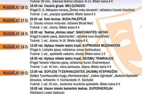 """V Unės Babickaitės Lietuvos profesionalių teatrų festivalis """"Art do 2020"""""""