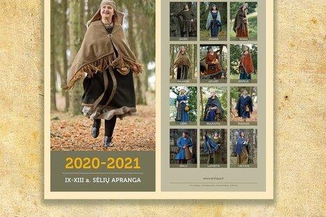"""2020-2021 m. kalendoriaus """"Sėlių apranga"""" pristatymas"""