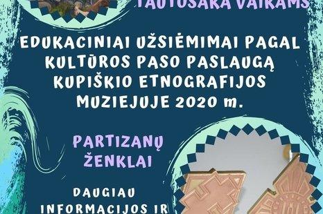 Edukaciniai užsiėmimai pagal kultūros pasą paslaugą