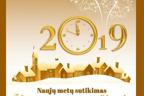 Naujų metų sutikimas Skapiškio miestelio aikštėje!