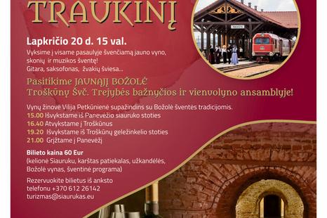 """Kvietimas į """"Božolė traukinį"""" iš Panevėžio siauruko stoties"""