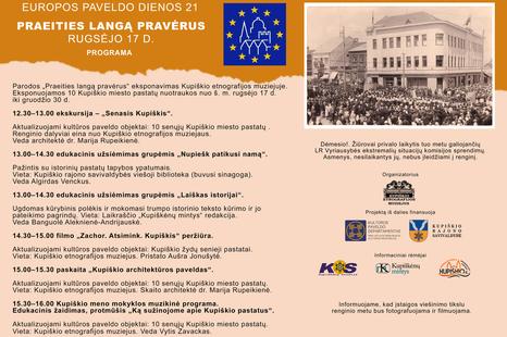 Europos paveldo dienos 21. Praeities langą pravėrus
