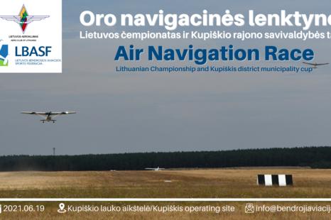 Oro navigacinių lenktynių Lietuvos čempionatas 2021