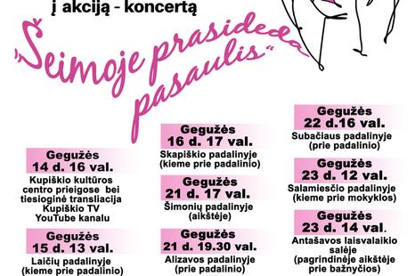 Tarptautinės Šeimos dienos progos akcija-koncertas!