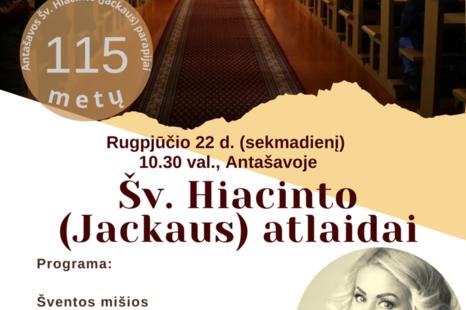 Šv. Hiacinto (Jackaus) atlaidai Antašavoje