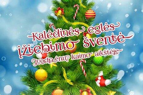Kalėdinės eglės įžiebimas Juodpėnuose!