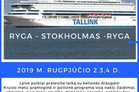 Kruizas Ryga - Stokholmas - Ryga
