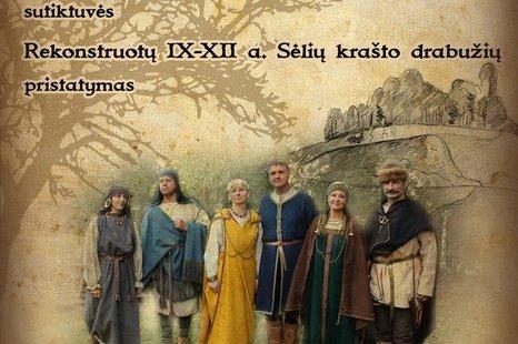 Knygos sutiktuvės ir rekonstruotų Sėlių krašto drabužių pristatymas