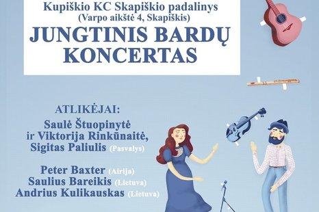 Jungtinis bardų koncertas Skapiškyje