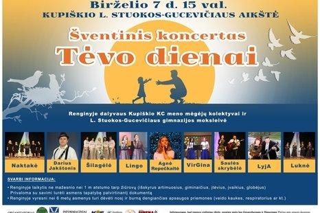 Šventinis koncertas Tėvo dienai Kupiškyje