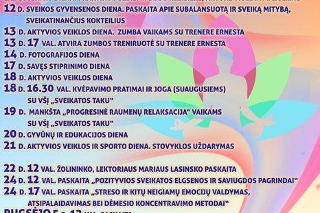 """Sveikos gyvensenos ir aktyvaus laisvalaikio stovykla """"Turininga vasara"""" Subačiuje! ☀️ Projekto veiklos organizuojamos įgyvendinant projektą """"Uošvės Liežuvis - sveikatos sala"""". Nr. KUPI-LEADER-1C-SJV-6-13-2019"""