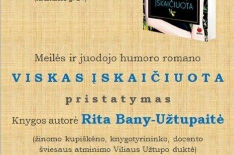 Ritos Bany - Užtupaitės knygos pristatymas